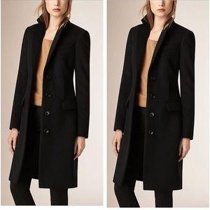 Burberry cashmere tailored black coat